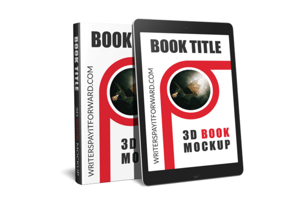 3D Book Mockup Screen Hardcover 6x9