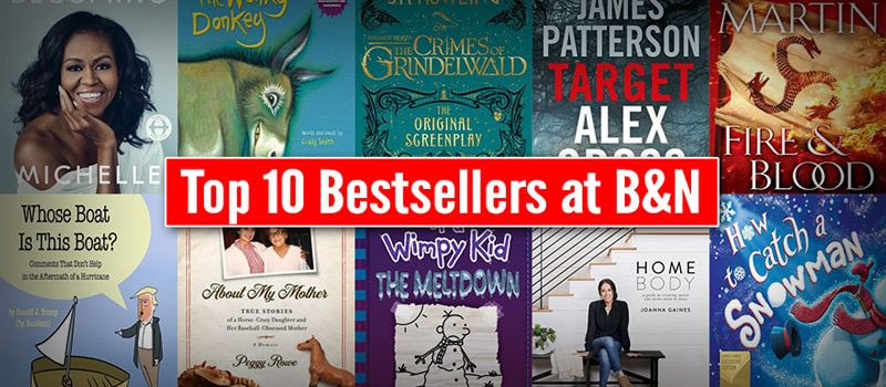 Top 10 Bestsellers at B&N