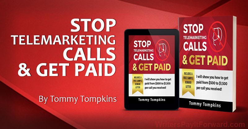 Stop Telemarketing Calls & Get Paid banner
